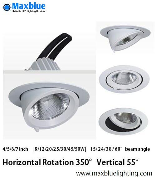 rotatable gimbal downlight