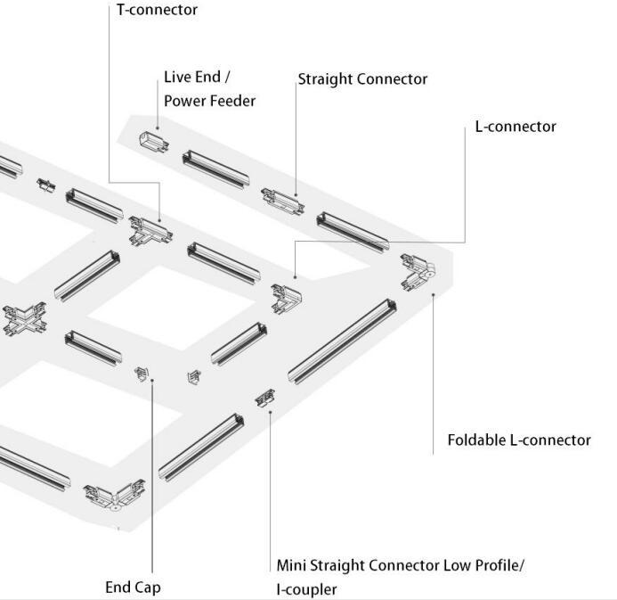 LED Track Lighting Rails & Accessories 2 - Maxblue Lighting