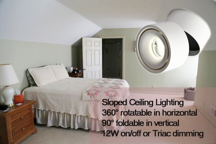 foldable downlight for sloped ceiling lighting - Maxblue Lighting