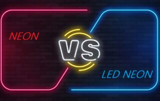 traditional neon vs led neon light