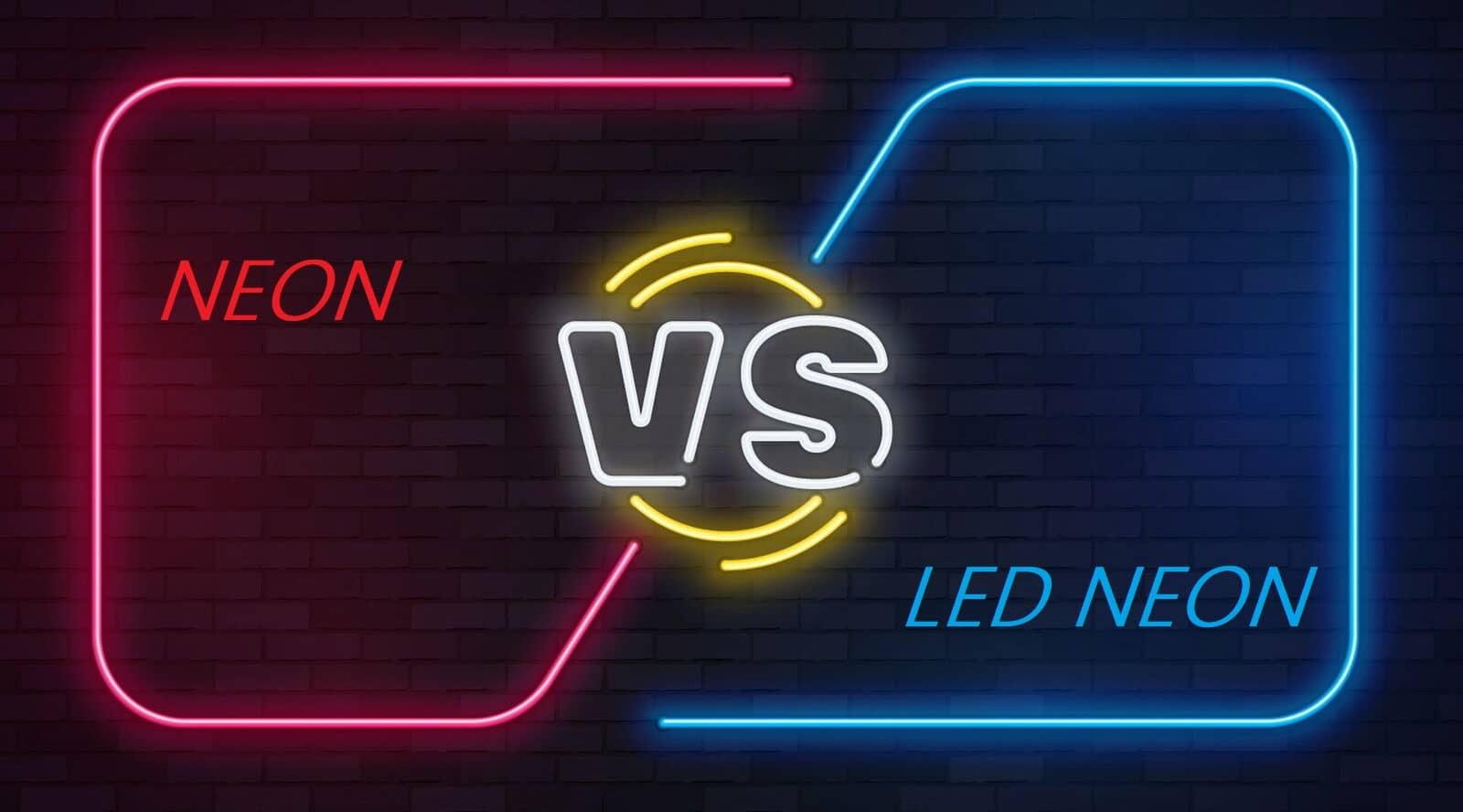 traditional neon vs led neon light